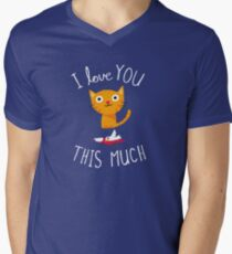 I Love You This Much Men's V-Neck T-Shirt