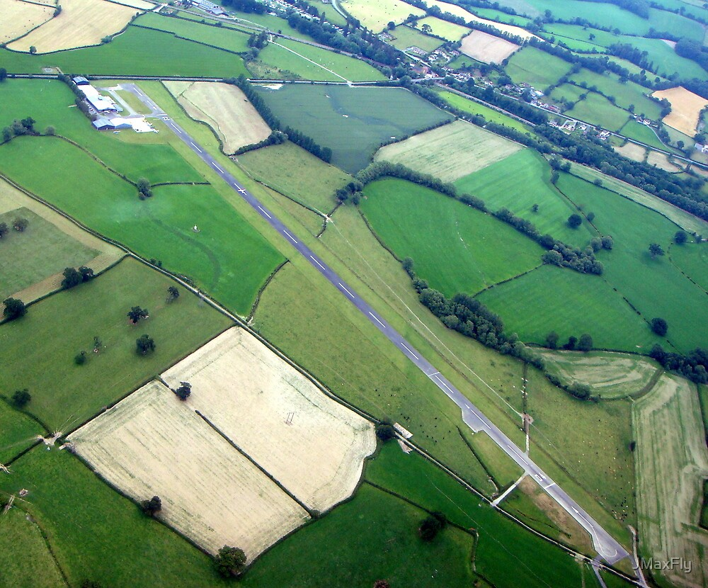 Welshpool Airfield Aerial shot by JMaxFly
