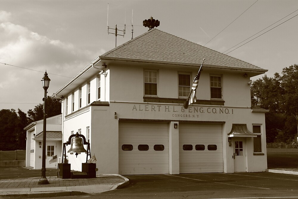 Vintage Firehouse by Frank Romeo