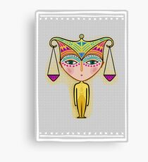 libra zodiac sign Canvas Print