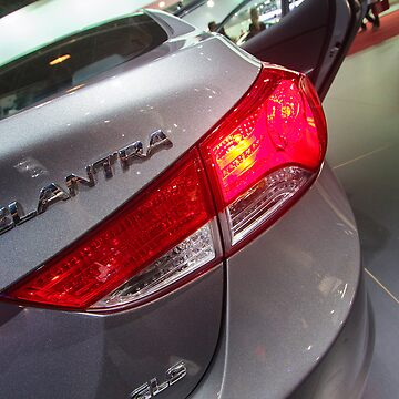 Hyundai Elantra Back Red Light [ Print & iPad / iPod / iPhone Case ] by mauriciosantana
