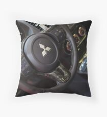 Mitsubishi Lancer Evolution X Wheel [ Print & iPad / iPod / iPhone Case ] Throw Pillow