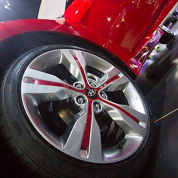 Hyundai Veloster Wheel [ Print & iPad / iPod / iPhone Case ] by mauriciosantana