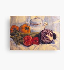Still life with white pot Canvas Print