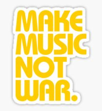 Make Music Not War (Mustard) Sticker