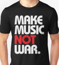 Make Music Not War (black/red) Unisex T-Shirt