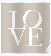 Love in Taupe Poster