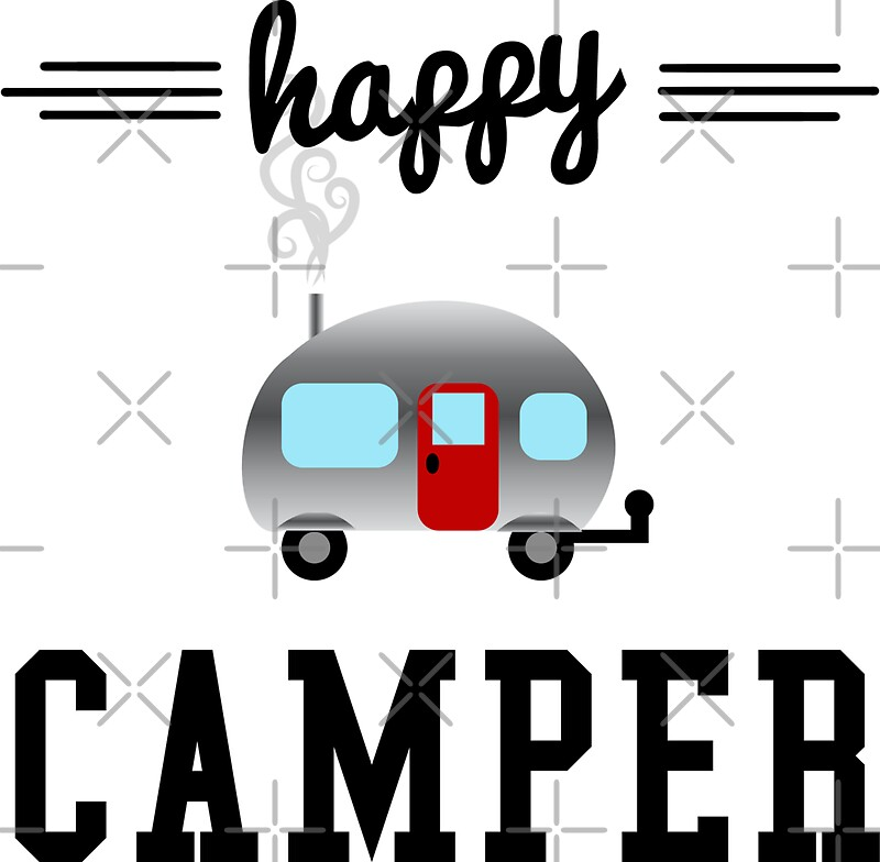 """Happy Camper "" Stickers by Megan Noble 