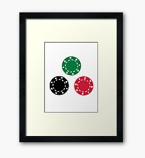 Poker casino Framed Print