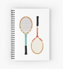 Vintage Tennis Rackets Spiral Notebook