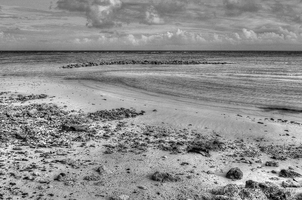 Yamacraw Beach in Nassau, The Bahamas (Black & White) by Jeremy Lavender Photography