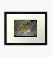 Surfer girl Framed Print