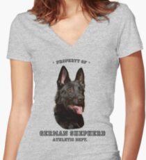 German Shepherd Athletic Dept. Women's Fitted V-Neck T-Shirt