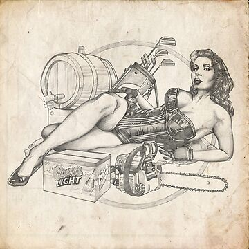Father's Day Pinup Sketch by brentms