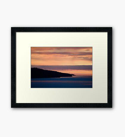 Inside Passage - Sunset Canada Coast Framed Print