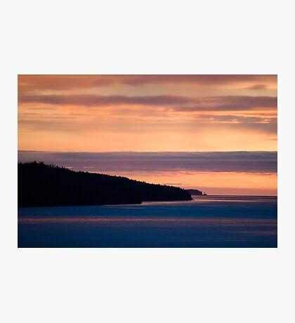 Inside Passage - Sunset Canada Coast Photographic Print