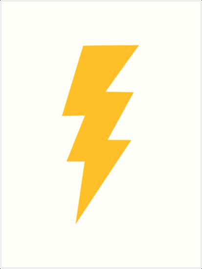 Yellow Flash Lightning Bolt\