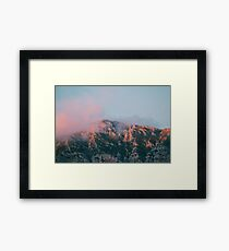 Mountains in the background VI Framed Print