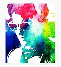 rainbow glasses profile Photographic Print