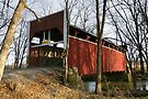 December Shadows on the Keefer Mill Bridge by Gene Walls