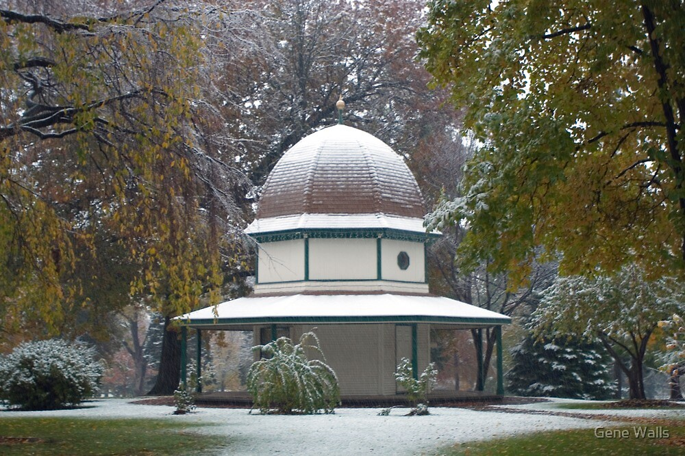 Snow on the Gazebo, Just in Time for Halloween by Gene Walls