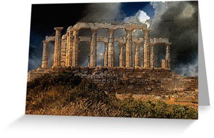 Temple of Poseidon by Lois  Bryan