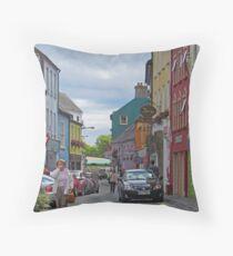 Kinsale - streetscape Throw Pillow
