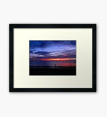 Sunset at Campground Beach Framed Print