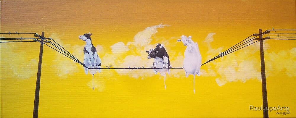 Wired Cows by RaulgopeArte