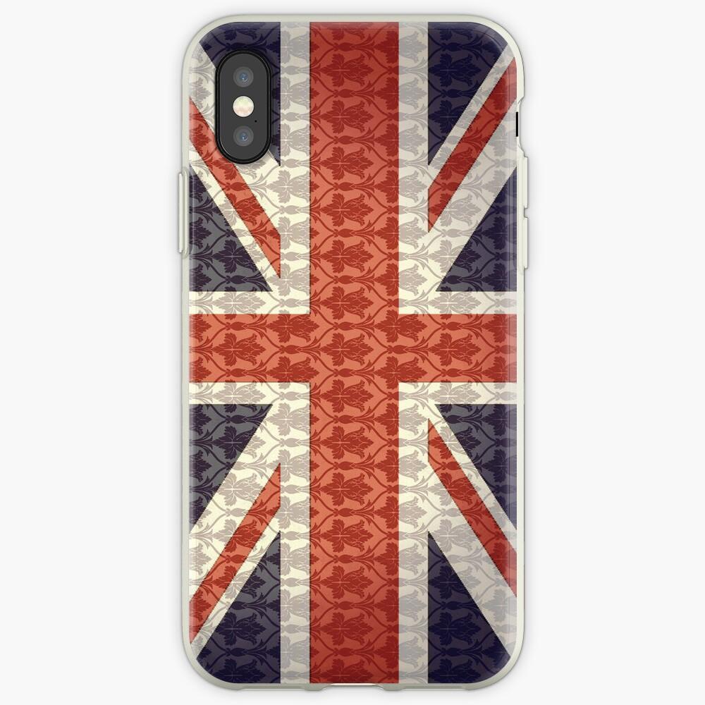 Union Flag/Sherlock wallpaper iPhone-Hülle & Cover