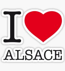 I ♥ ALSACE Sticker