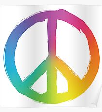 Peace and Pece Sign Poster