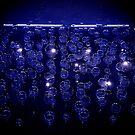 Electric blue bubbles by Doug Bonner