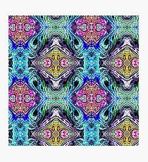 Neon Pinstripes 1 D Photographic Print