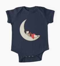 Whimsical Girl Sleeping on the Moon Kids Clothes