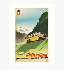 Vintage poster - Switzerland Art Print