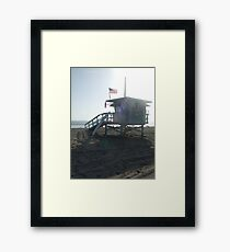 "Santa Monica (""Baywatch"" beach) Lifeguards Framed Print"