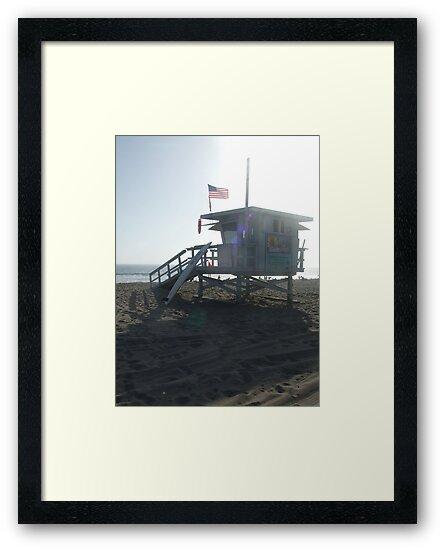 """Santa Monica (""""Baywatch"""" beach) Lifeguards by Karen Hood"""