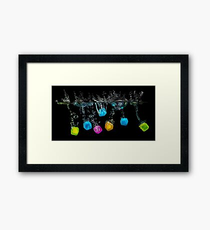The Cubes Framed Print
