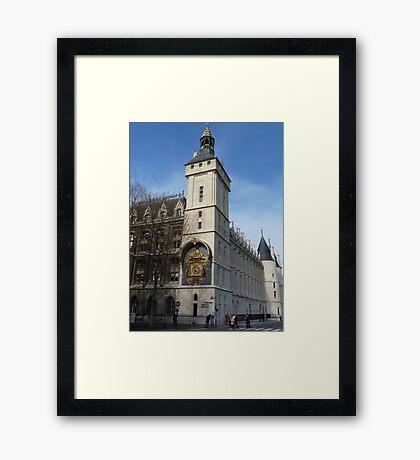 Conciergerie, Paris - Clock Tower Framed Print