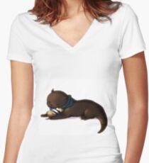 otterlock and hedgejohn Women's Fitted V-Neck T-Shirt