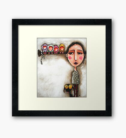 Me and my birds Framed Print