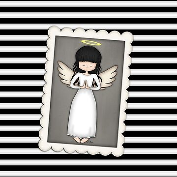 Whimsical Black and White Angel by ArtformDesigns