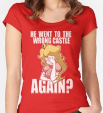 He went to the wrong castle AGAIN? Women's Fitted Scoop T-Shirt