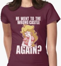 He went to the wrong castle AGAIN? Women's Fitted T-Shirt