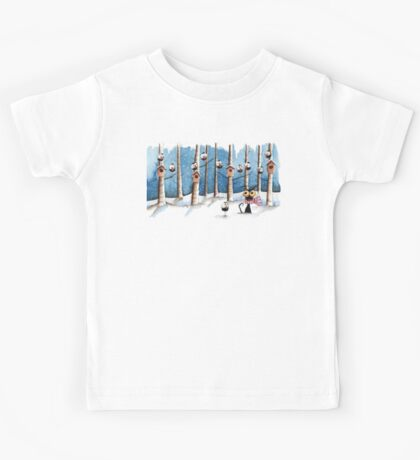 Cat and the crows Kids Clothes