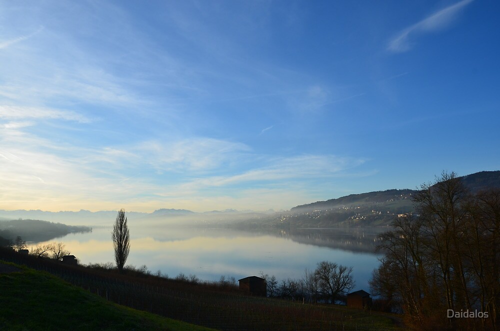 Lake Hallwil Switzerland by Daidalos