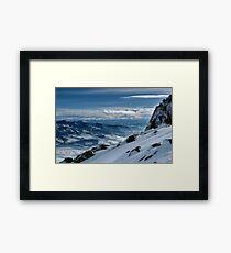 On the top of the World - Snowbasin Ski Slopes Framed Print