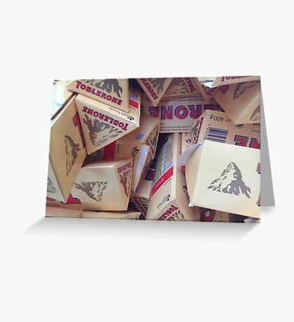 Toblerone Greeting Card