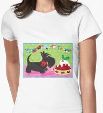 Christmas Pudding Womens Fitted T-Shirt